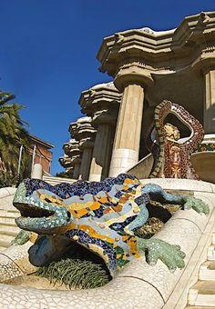 Parc Güell by Antoni Gaudi, Barcelona, Spain