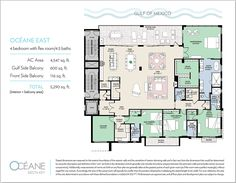Condos for sale Siesta Key FL - Oceane Siesta Key offers two distinct new penthouse floorplans - Oceane East and Oceane West. Sarasota Florida, Siesta Key Condo, Interior Balcony, Flex Room, Gulf Of Mexico, Condos For Sale, Floor Plans, Flooring, How To Plan