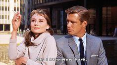 Oh I love New York, Breakfast at Tiffanys, film, Audrey Hepburn, quotes