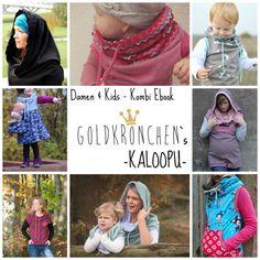 Kombi Ebook Kaloopu, Damen + Kinder, Pullunder von Goldkrönchen auf DaWanda.com