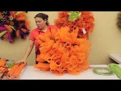 ▶ How To Make A Pumpkin Wreath - YouTube