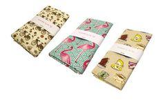 Handmade by Me: Set of 3 Tea Towels – Multi-colour