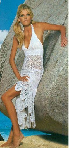 Crochet halter neck dress…...