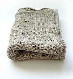 Organic Baby Blanket  Linen blanket  Knitted by myBlueMeadow