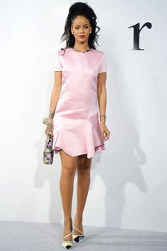 Rihanna - Musicians remain my most reliable source of fashionable amusement. In fact, as I reflected on Rihanna's year in clothes, my head started to spin from the diversity of options. (While I'm partial to that transparent Adam Selman gown from the CFDAs, I decided that she looked chicest in the pink frock she wore to Raf Simons's Dior resort show at the Brooklyn Navy Yard.) Getty Images  - HarpersBAZAAR.com