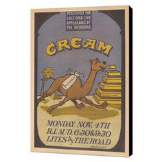 cream vintage concert poster