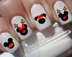 Image result for Disney Christmas nails