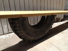 Bring back this classic playground toy and build a tire see saw in your own backyard.