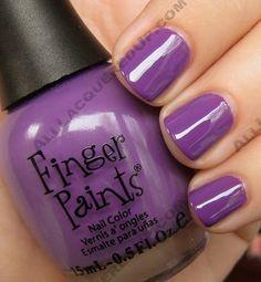 Finger Paints in Lavender Highlight