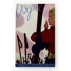 "WT-1020-CN1157""Vogue, ""Woman Skier Smoking"", Jean Pages, Dec 1933"""