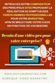 Comparateur: sites pour votre vidéo marketing.