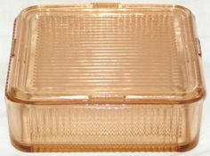 Pink 2-Quart Depression Glass Refrigerator Dish..i have one but its clear..i love it
