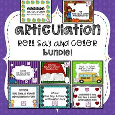 Work on articulation and get tons of productions without the prep!  This bundle contains activities for all seasons/holidays!  Just print and go!