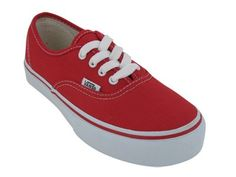 Vans Kids VANS AUTHENTIC SKATE SHOES 3 (RED) « Shoe Adds for your Closet