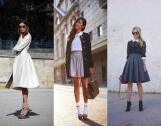 midi skirt and socks with heels!!