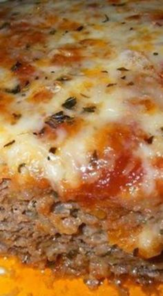 Italian Meatloaf ~ The leftover sandwich the next day is AWESOME too