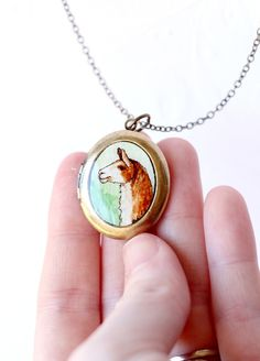 Just for you Prukop Locket Necklace, Pendant Necklace, Llama Arts, Pebble Painting, Watercolor Paintings, To My Daughter, Llamas, Just For You, Bling