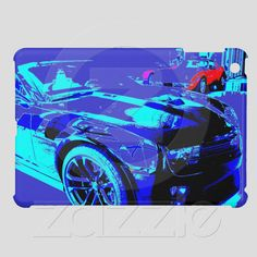 Case Savvy iPad Mini Glossy Finish Case of a Chevy Camaro ZL1 in showroom from Zazzle.com...100% money back guarantee....available nowhere else.