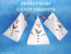 Frozen Olaf Candy Present  - Printable - Frozen birthday gift - Instant Download - Happy with Printables--you can purchase