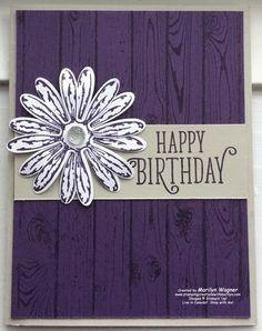 Today I'm sharing some tips for using the background stamps. Isn't it amazing that you can make beautiful backgrounds with only one stamp? The Hardwood stamp shown here is a wonderful addition to your collection. Source by annmbick background Cute Cards, Diy Cards, Stamping Up Cards, Masculine Cards, Happy Birthday Cards, Creative Cards, Flower Cards, Homemade Cards, Making Ideas