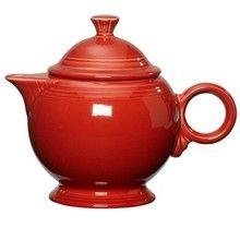 "Fiesta® Covered Teapot (small 6"", 44oz) in persimmon"