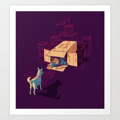 Halt! Who Goes There? Art Print by Steve Hughes - $15.00
