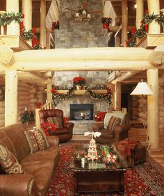 Highlands Log Structures ~ Ready for Christmas