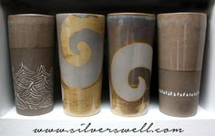 brown stoneware line up