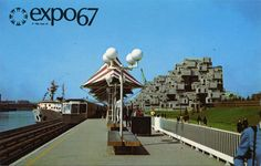 """Expo 67 officials decided to allow free reign in architectural style as long as participant's pavilions fit in with the overall theme """"Man and his World. Expo 67 Montreal, Sky Ride, Swinging London, Lounge, Canadian History, Le Havre, The Way Home, World's Fair, Retro Futurism"""