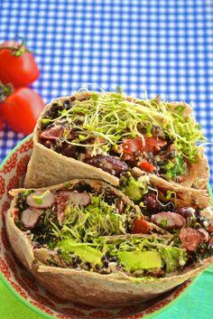 Vegetarian Summer Wraps- sounds yummy even though I'm not a vegetarian!