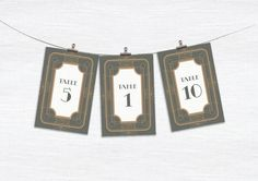 Printable Wedding Table Numbers  Deco Dream  Art by WillowandSass, $10.00