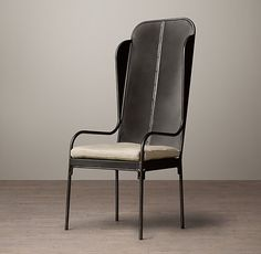 1950s Iron Wingback Chair