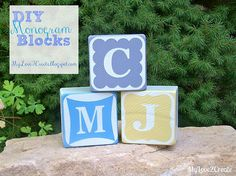 DIY Monogram Blocks