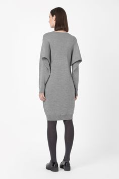 Wide-sleeve jumper dress
