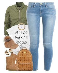 """""""Untitled #1480"""" by power-beauty ❤ liked on Polyvore featuring Frame Denim, Lola, MCM and UGG Australia"""