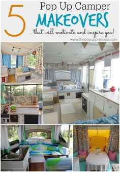 Pop Up Camper Makeover Ideas. If you wish to stay informed about our camper remodel, take a look here. Before you set your camper away for the season, you're want to take precautio. Camper Life, Rv Campers, Camper Trailers, Happy Campers, Travel Trailers, Pop Up Tent Trailer, Pop Up Princess, Camper Renovation, Camper Remodeling