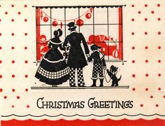 Window Shopping With The Dog--Deco Card