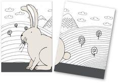 animal tail card game by pipasik rabbit free printable