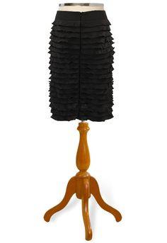 ruffled pencil skirt <3