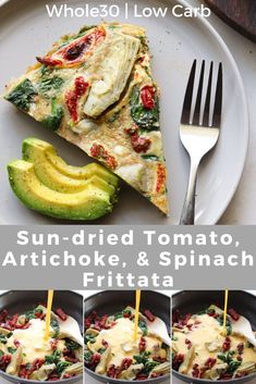 This Mediterranean inspired Sun-dried Tomato Spinach and Artichoke Frittata is Paleo and great for Low Carb and Keto ways of eating too! This frittata is great for easy healthy meal prep to enjoy at breakfast lunch dinner or any time! Easy Healthy Meal Prep, Paleo Meal Prep, Easy Healthy Recipes, Healthy Foods, Healthy Eating, Spinach Frittata, Frittata Recipes, Baby Spinach, Delicious Breakfast Recipes