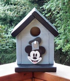 Steamboat Willie Birdhouse for the Garden.  <3