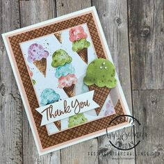 Bd Cool, Ice Cream For Breakfast, Make Your Own Card, Stamping Up Cards, Card Tags, Pattern Paper, Kids Cards, Homemade Cards, Your Cards