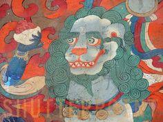 tibetan art snow lion colors - Pesquisa Google