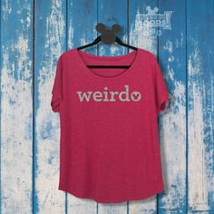 Weirdo | Ladies Slouchy Glitter Tee | Disney-Inspired | Hidden Mickey | Disney Geek