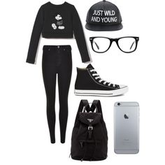 Going exploring by alannaxjonnesx on Polyvore featuring polyvore, fashion, style, Marc Jacobs, Dr. Denim, Converse, Prada and Muse