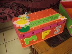 caja de zapatos decorado