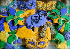 #MardiGras !#Decorated #Cookies