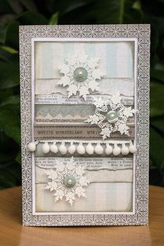 ribbon tape & clear snowflakes
