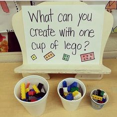 Preschool stem - This is a good example of parts and wholes with an informal learning experience The teacher chose the activity, but does not have a specific object they were asked to build School Age Activities, Lego Activities, Stem Activities For Preschool, Activities For Children, School Age Games, Daycare Games, School Age Crafts, Morning Meeting Activities, Physical Education Activities