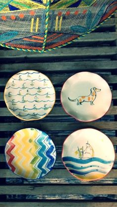Would love to go to a ceramics store and paint my own chevron platter.